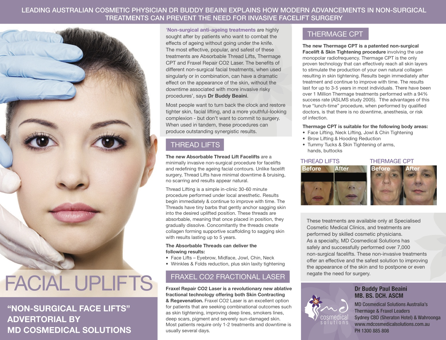 Md Cosmedical Solutions Cosmetic Surgery Clinics Sydney